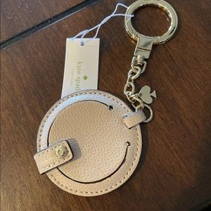 Kate Spade Circle Mirror Bag Charm Key Fob